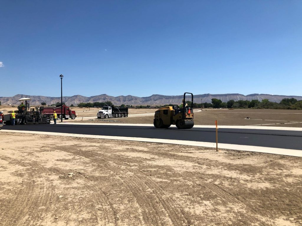 Country Lane being paved into Emerald Ridge Estates in Grand Junction, CO