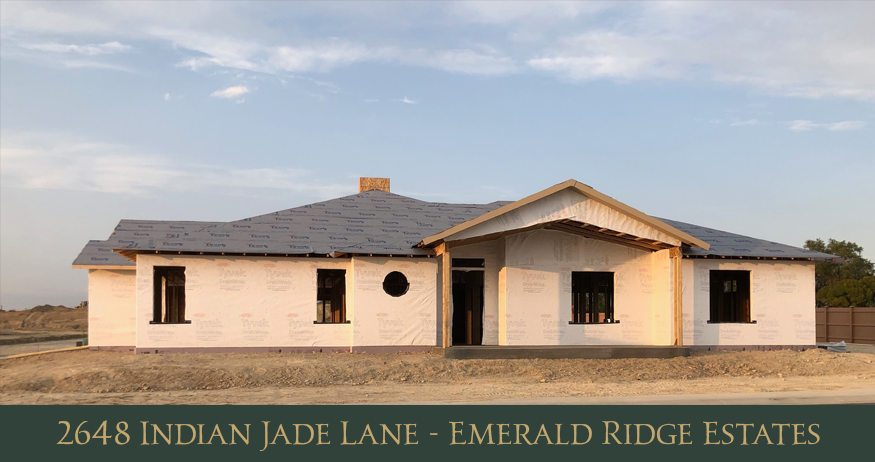 2648 Indian Jade lane is our Model Home/Development Office for Emerald Ridge Estates. It is currently under construction, and we hope to finish it in late December. It is being built by Rock Creek Custom Homes.