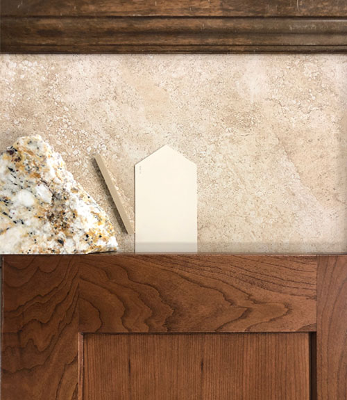 Design your new home! This is the color pack for 854 Fire Agate, a new home in Grand Junction. Cherry cabinets, stained Alder doors, granite countertops, and marble-look tile finish out this beautiful home.